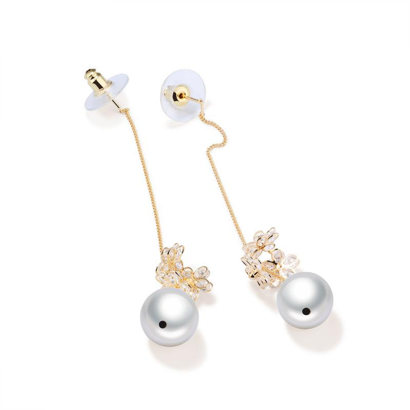 Simple Ear Jewelry Earrings Pearl Drop Earrings Tassel Dangle Earrings KE696