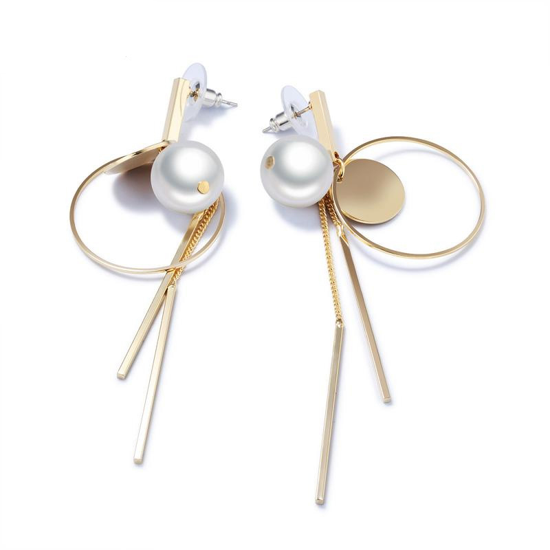 Elegant Long Drop Earrings Pearl Drop Earrings Tassel Dangle Earrings KE698