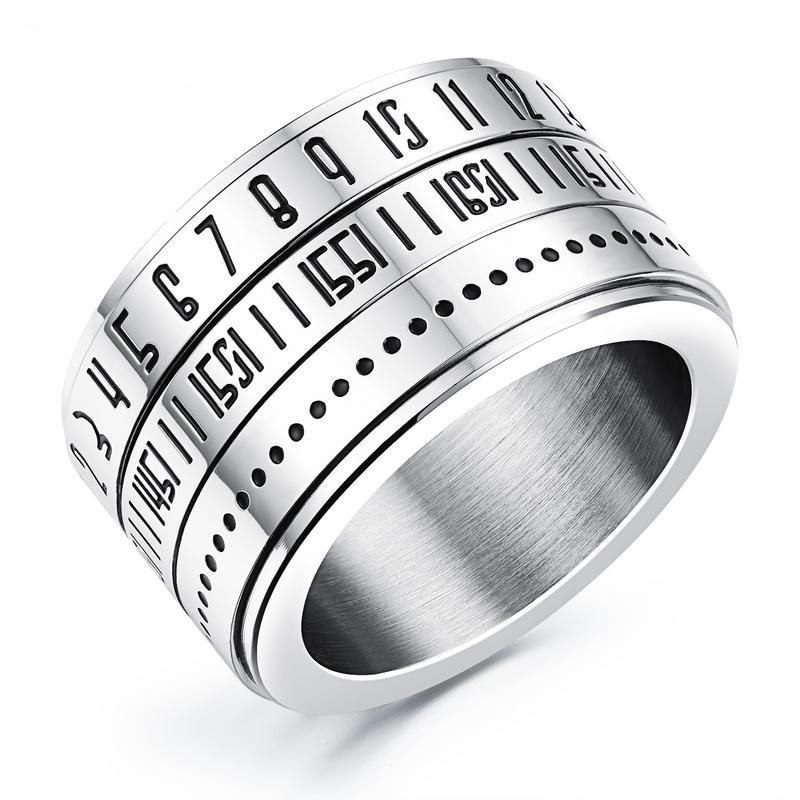 Punk Style Ring Simple Rings with Numerals Design For Men GJ511