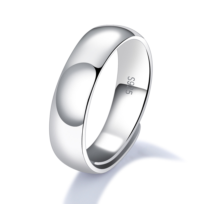 Creative Simple Style 925 Sterling Silver Rings Design For Men SJ003