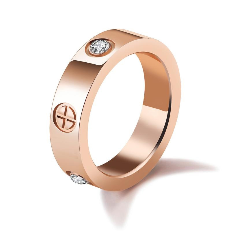 Luxury Elegant Rose Gold Wedding Rings Design For Women GJ527