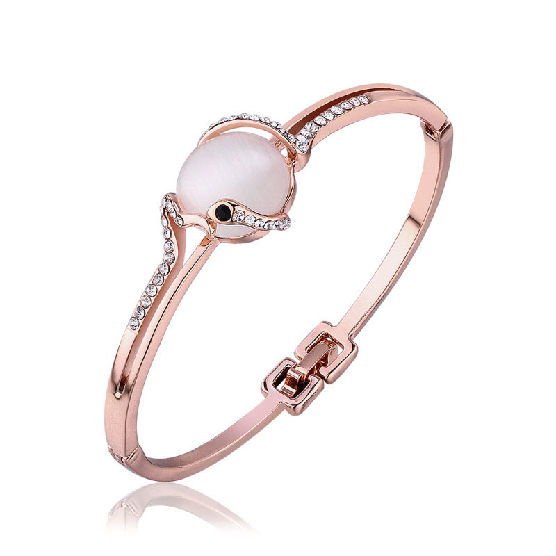 Snake Play Ball Bracelet Rose Gold Plated Bracelets For Girls