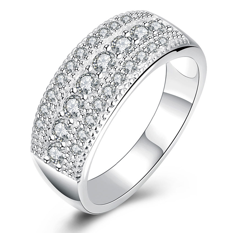925 Sterling Silver & Zirconia Ring for Women Dress