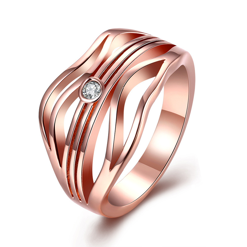 Special Design Rose Gold Plated Ring for Women