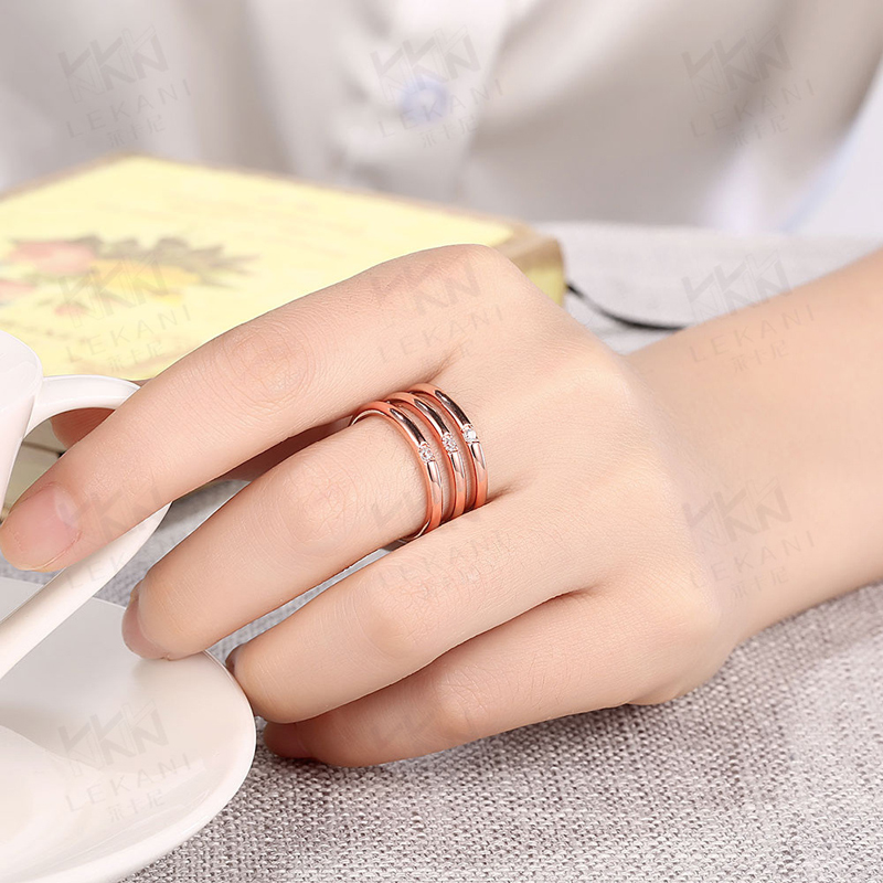 Gold Plated Fashion Jewelry Third Rings For Women