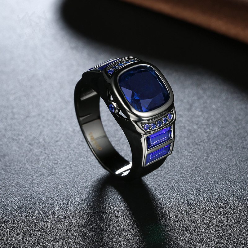 Unique Watch Shaped Black Gun Plated Rings for Women