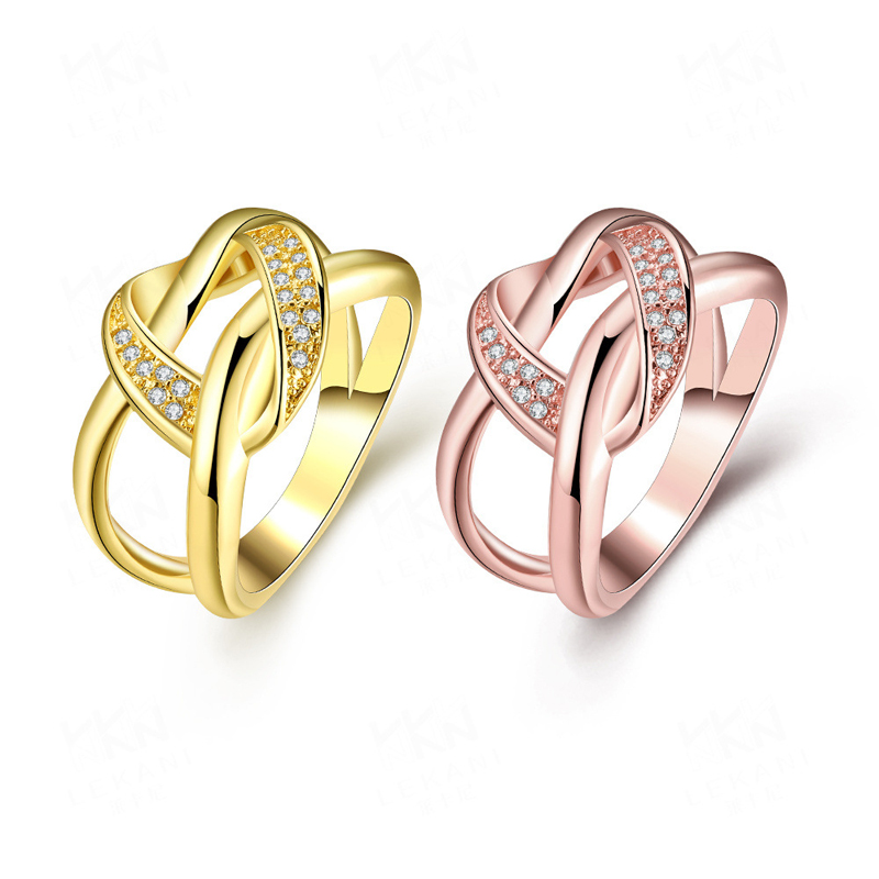 Romantic Gold Plated Unique Shape Ring for Women