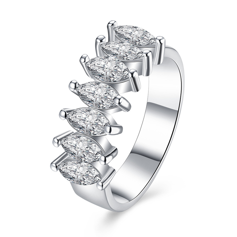 Fashion Cubic Zircon Platinum Plated Rings for Women