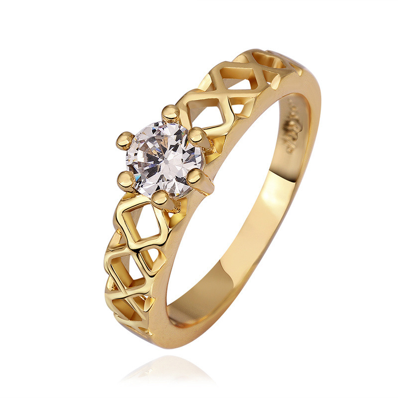 Antiallergic Fashion Jewelry Gold Plated Ring for Women
