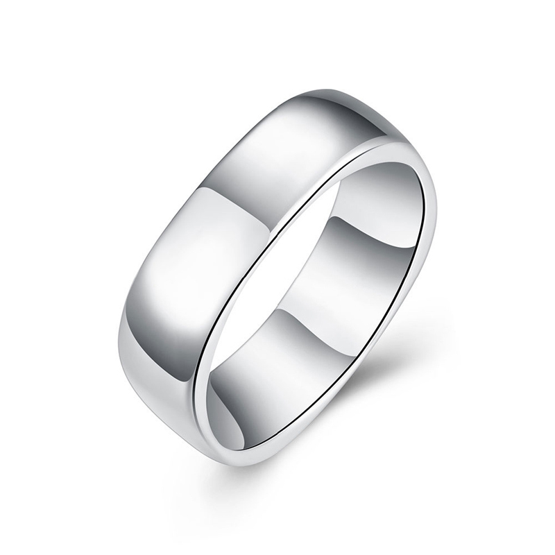 Silver Plated Simple Square Rings for Women