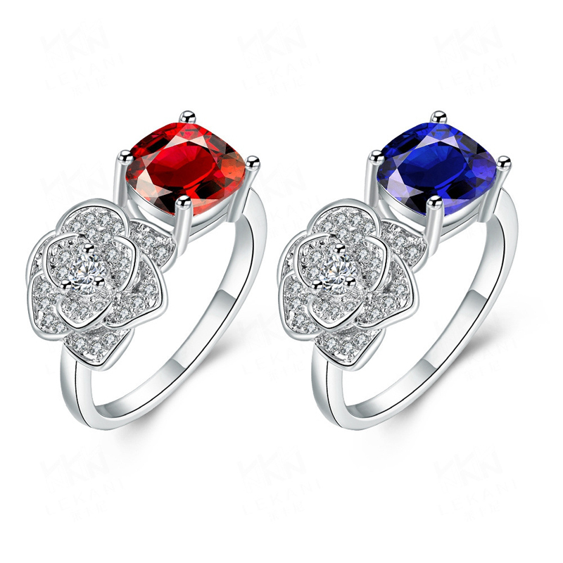 Platinum Plated with Nice Zircon New Design Ring for Women
