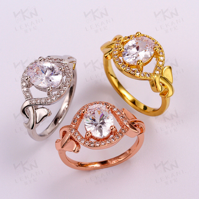 Luxury Yellow/Rose/White Gold Plated Rings For Women