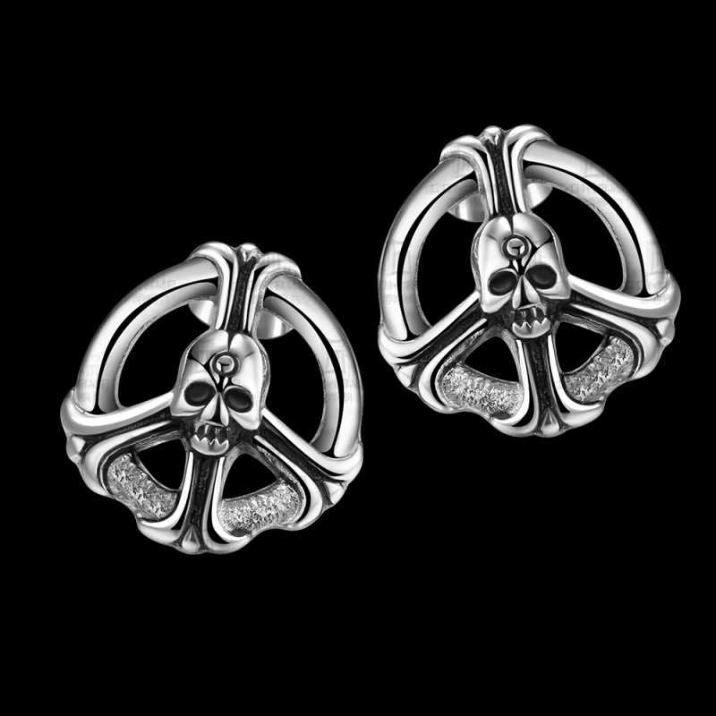 316L Stainless Steel Skull Earrings Punk Jewelry for Girls