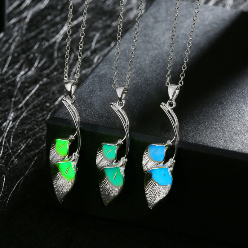 Noctilucent Flowers 925 Sterling Silver Necklace Pendant for Women