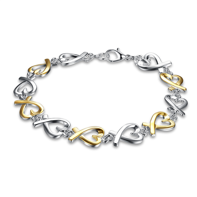 925 Silver Charm Bracelet With Silver Heart for Girls
