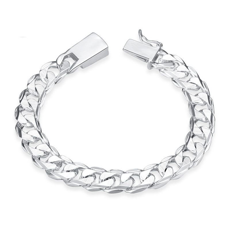 Silver Plated Fashion Jewelry Square Lock Boy Bracelet