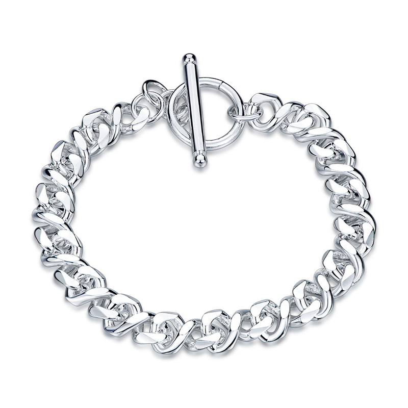 Popular Silver Plated Twisted Girls Chain Bracelet