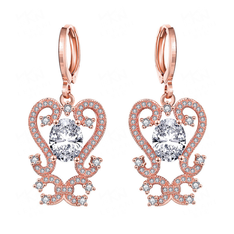 Magic Style Yellow Gold/Rose Gold Plated Drop Earrings For Girls