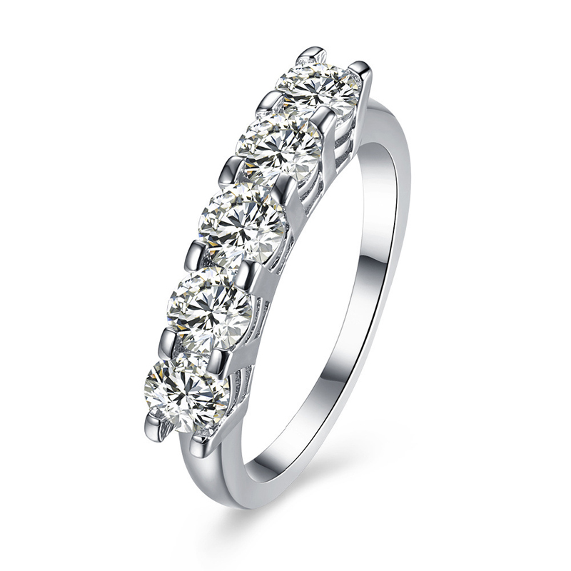 Platinum Plated Cubic Zirconia Girls Trendy Rings