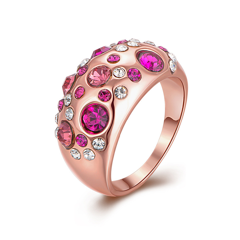 Antiallergic Fashion Jewelry Gold Plated Ring For Girls