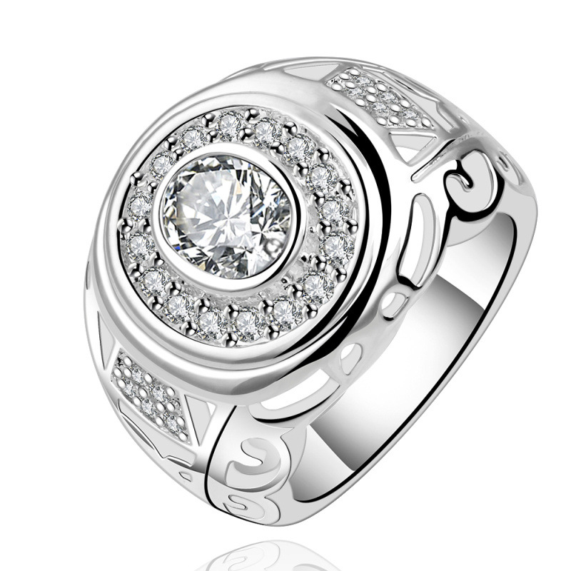Silver Plated with Oval Shaped Ring for Girls