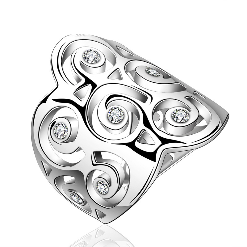 Romantic Love Style Jewelry Silver Plated Girls Rings