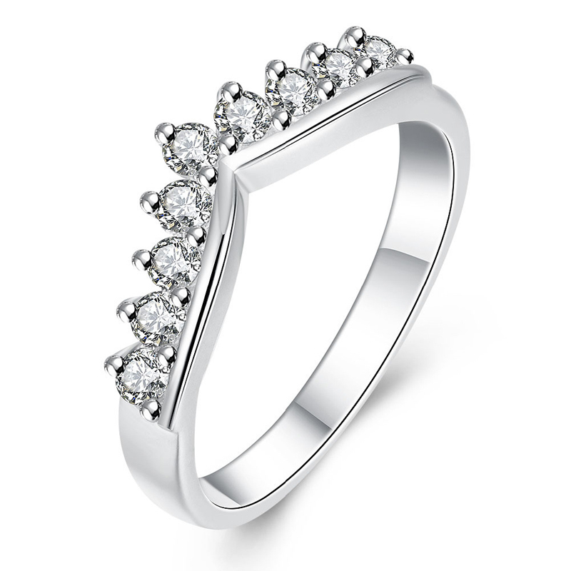 Silver Plated Exquisite Crown Shape Girls Ring