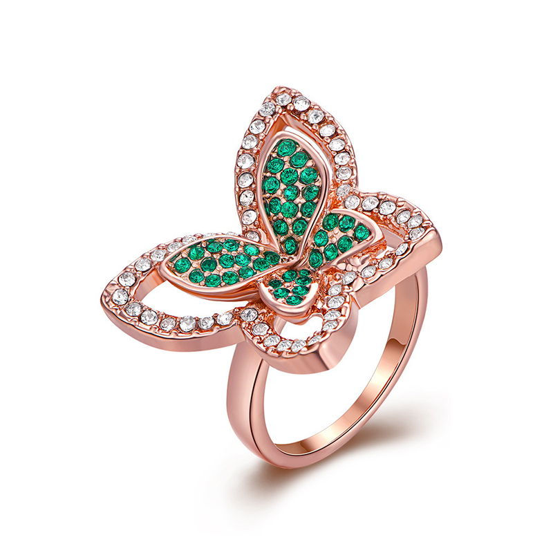 Antiallergic Gold Plated Butterfly Shape Ring for Girls