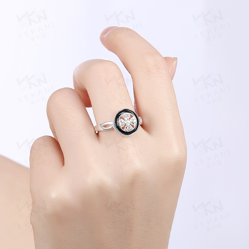 925 Sterling Silver Round Zircon Rings for Girls