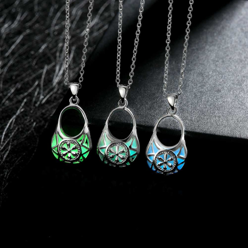 Fashion Bags Models Girls 925 Sterling Silver Chain Necklace Pendant