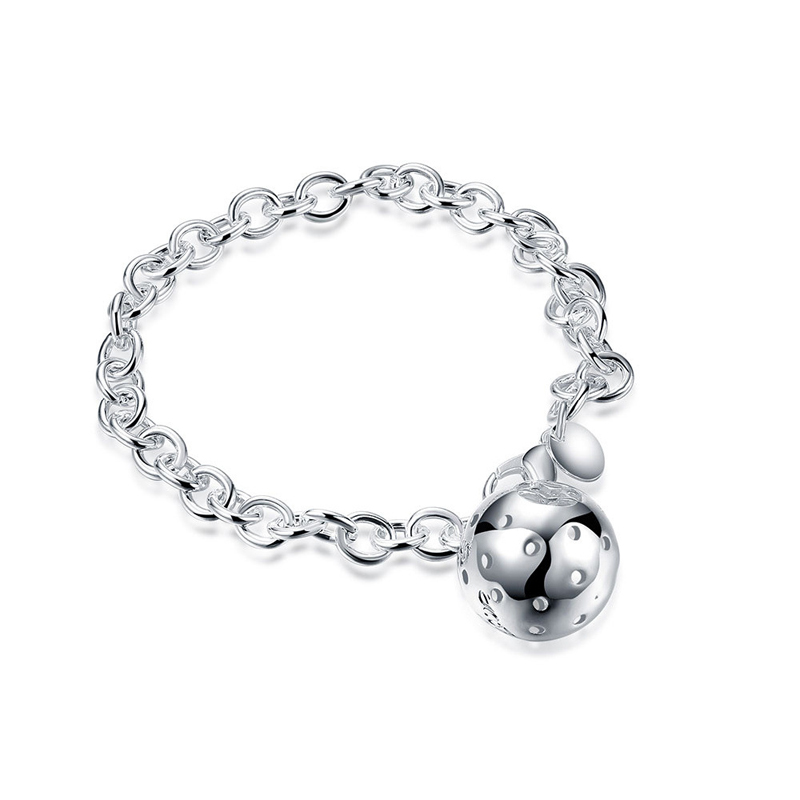 Silver Plated Jewelry Ball Girl Charms Bracelet