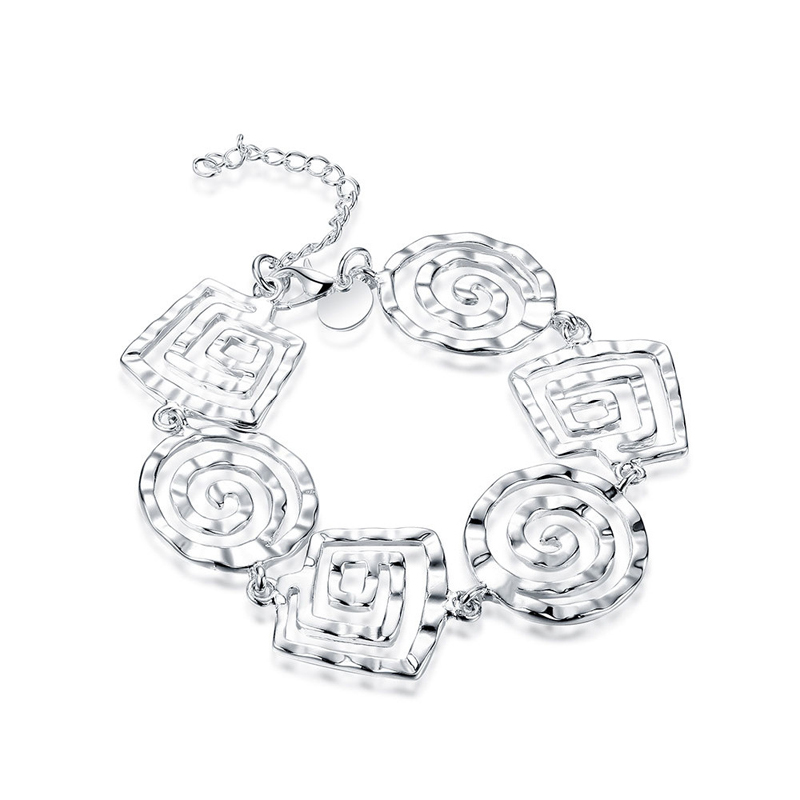 Silver Plated Screw Thread Bracelet for Girls