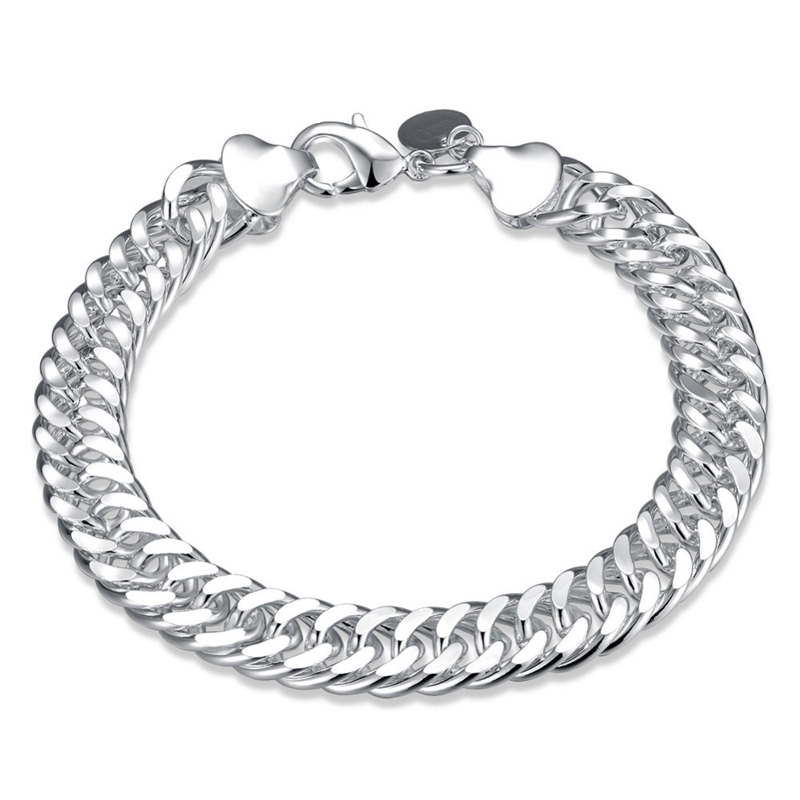 925 Silver Plated Fashion Jewelry 10mm Bracelet for Boys