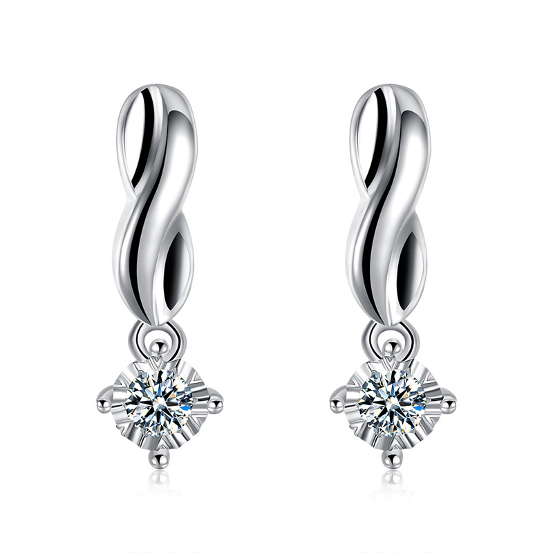 Classic Silvering Punk Style Stud Earrings For Girls