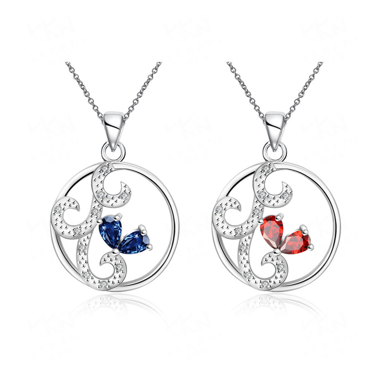 Silver Jewelry Crystal Necklace Pendants Specially Designed for Girls