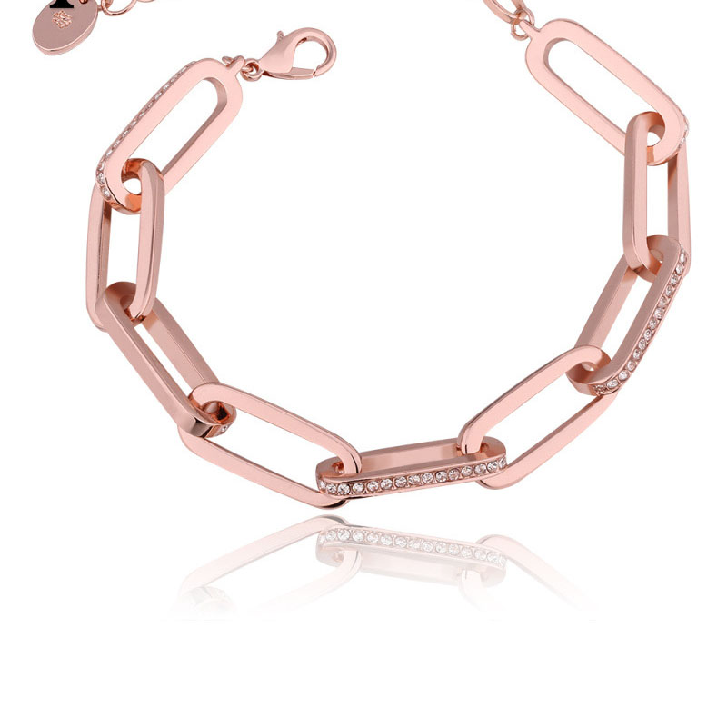 Solid Rose Gold Plated High-end Bracelets Fashion Jewelry for Girls
