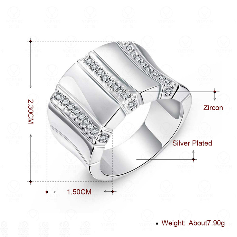 Latest Design 925 Silver Ring Fashion Sterling Silver Jewelry Crystal Ring For Women