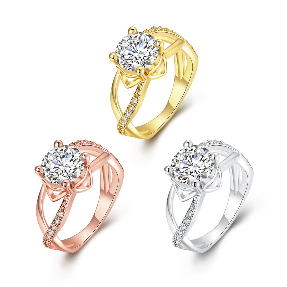 Hot Zircon Queen Rings High Quality Jewelry Rings Diamond Jewelry For Women