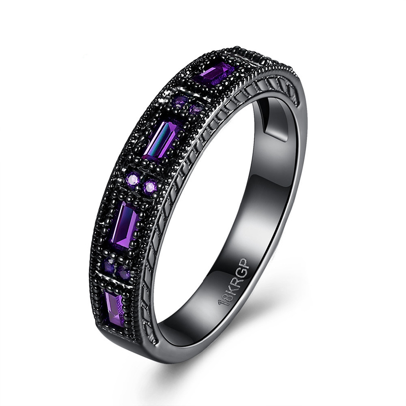 Classic Austrian Crystal Wedding Ring Cubic Zirconia Engagement Jewelry For   Women