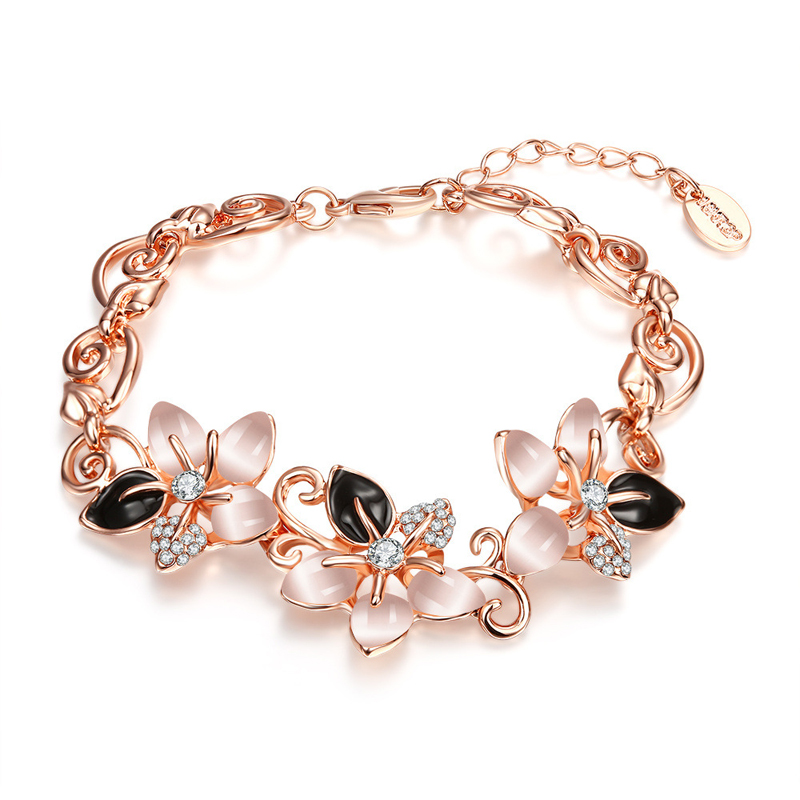 New Arrival Flower Drop Diamond Opal Bracelet Jewelry Fashion For Women Girl
