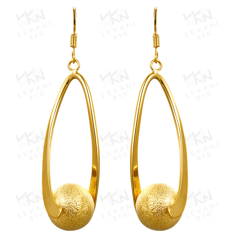 Ball Drop Earrings Frosted Big Crystal Bead Dangle Earring Jewelry Fashion For Women