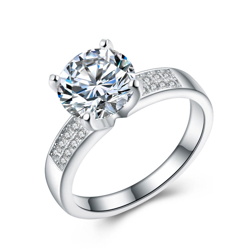925 Sterling Silver Fashion Diamonds Jewelry Ring for Women