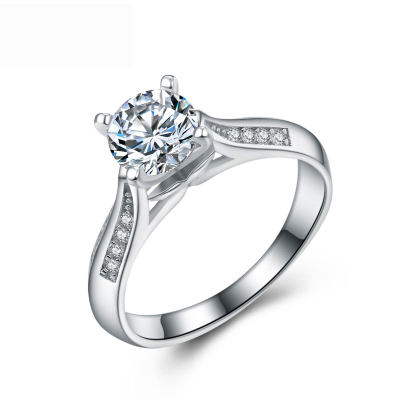 925 Sterling Silver Fashion Special Diamonds Jewelry Ring For Women E669