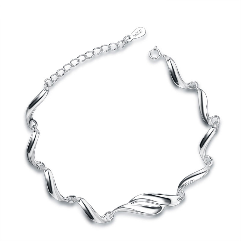 Women Fashion Charm 925 Sterling Silver Bracelet D005