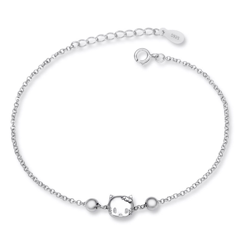 Hello Kitty 925 Sterling Silver Fashion Charm Bracelets D031