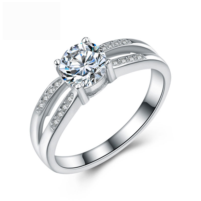 Fashion Special Diamonds 925 Sterling Silver Jewelry Ring For Women E583