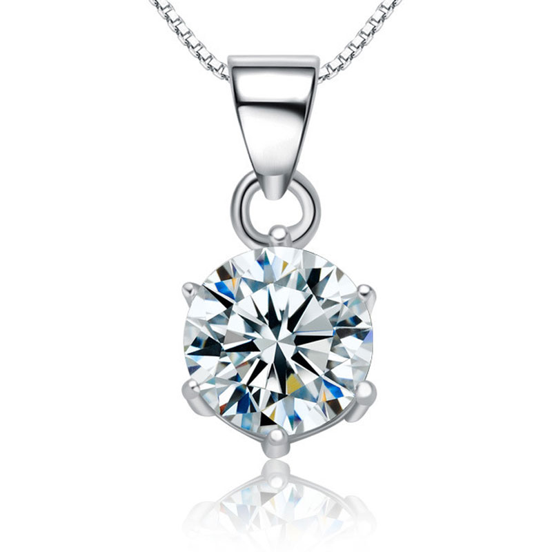 Fashion High-end Diamonds 925 Sterling Silver Women Pendants