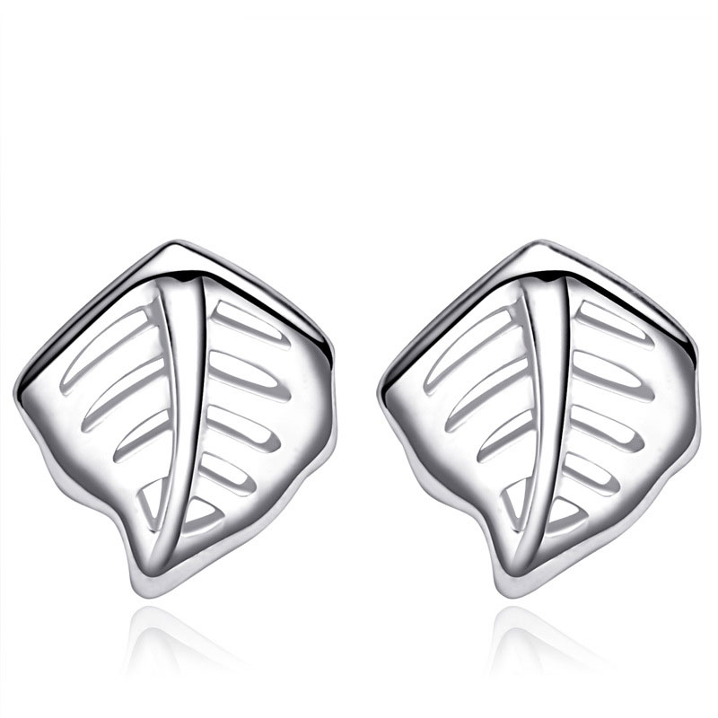 Lovely Leaves 925 Sterling Silver Earrings for Women B215