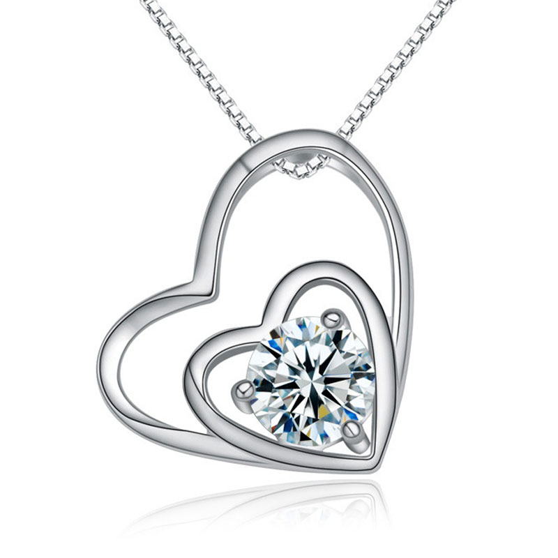 Heart to Heart Diamonds 925 Sterling Silver Pendants for Women
