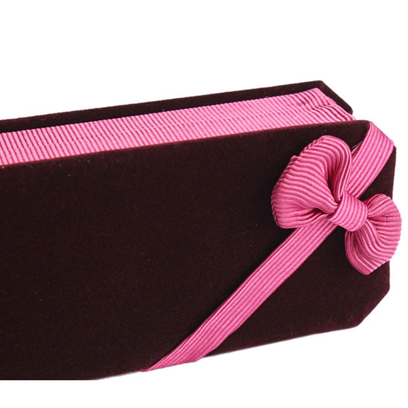 Claret-red Flannelette Foldable Boxes For Anklet